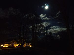 Christmas Moon over the Thompson Inn