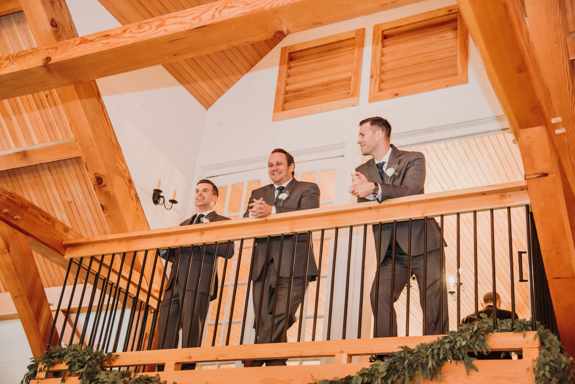 Groomsmen on the Balcony