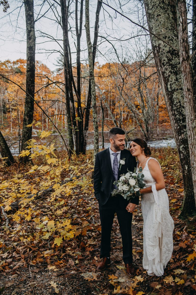 Bride and Groom at Packers Falls